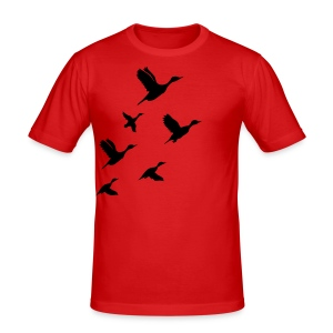 gaggle of geese - Männer Slim Fit T-Shirt