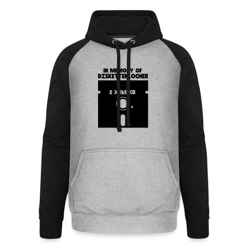 In Memory Of Diskettenlocher - Unisex Baseball Hoodie
