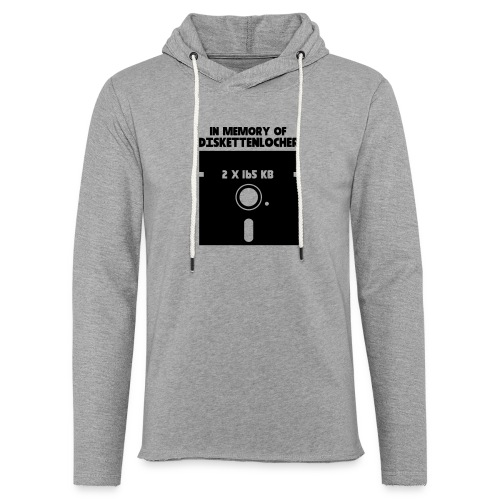 In Memory Of Diskettenlocher - Leichtes Kapuzensweatshirt Unisex