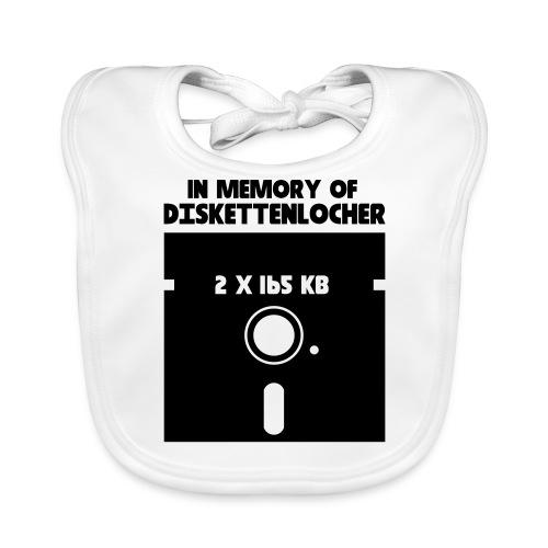In Memory Of Diskettenlocher - Baby Bio-Lätzchen