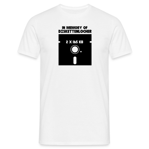 In Memory Of Diskettenlocher - Männer T-Shirt
