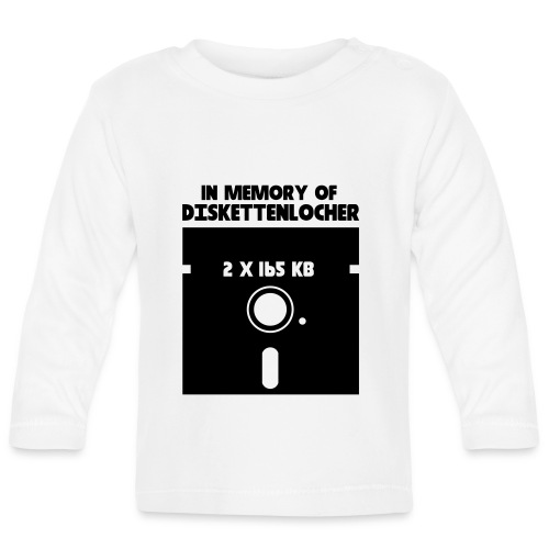 In Memory Of Diskettenlocher - Baby Langarmshirt