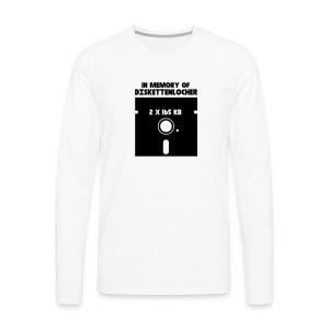 In Memory Of Diskettenlocher - Männer Premium Langarmshirt