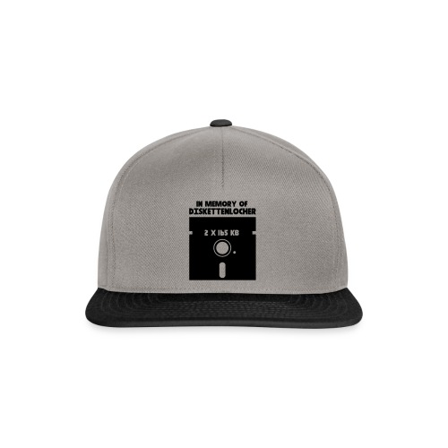 In Memory Of Diskettenlocher - Snapback Cap