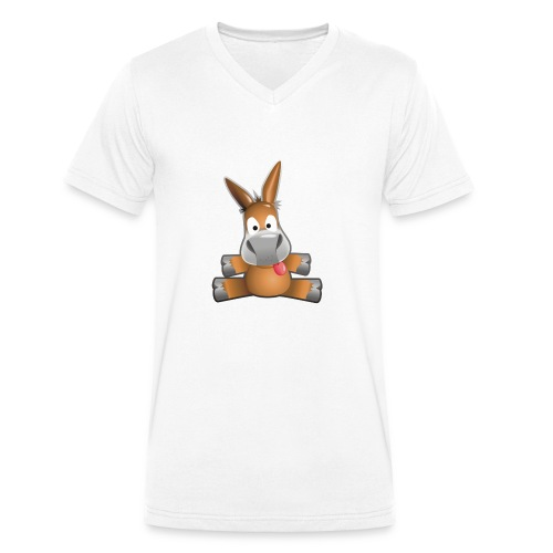 eMule Mug - Men's Organic V-Neck T-Shirt by Stanley & Stella