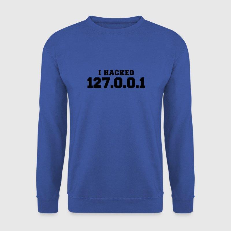 Rot i hacked 127.0.0.1 Pullover - Männer Pullover