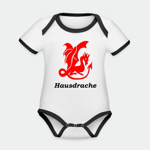 Hausdrache_Küche - Baby Bio-Kurzarm-Kontrastbody