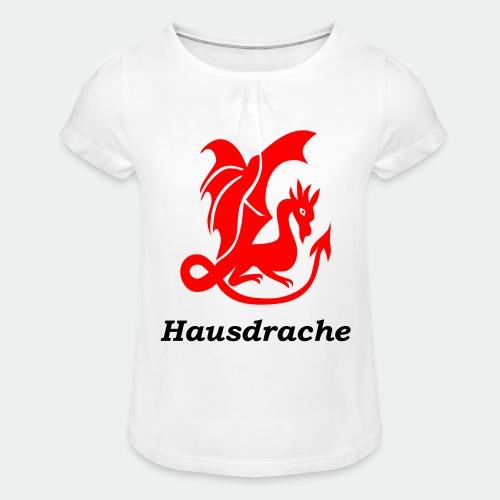 Hausdrache_Küche - Mädchen-T-Shirt mit Raffungen