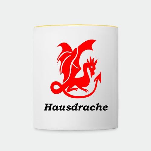 Hausdrache_Küche - Tasse zweifarbig