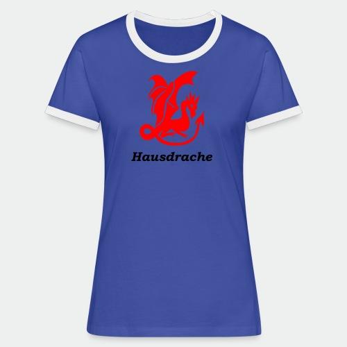 Hausdrache_Küche - Frauen Kontrast-T-Shirt