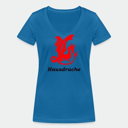 Hausdrache_Küche - Frauen Bio-T-Shirt mit V-Ausschnitt von Stanley & Stella