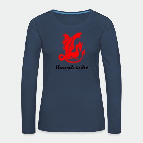 Hausdrache_Küche - Frauen Premium Langarmshirt