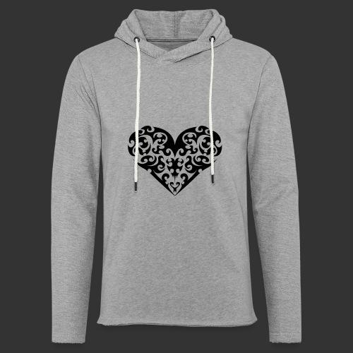 Herz - Leichtes Kapuzensweatshirt Unisex