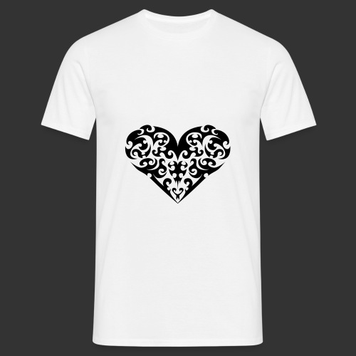 Herz - Männer T-Shirt