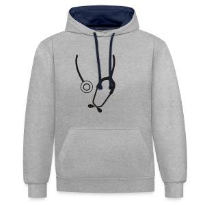 Stethoskop - Kontrast-Hoodie