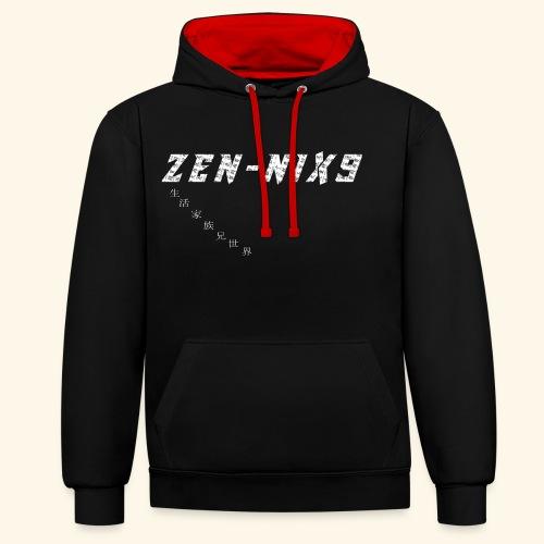 ZEN-NIX9 3 - Felpa con cappuccio bicromatica