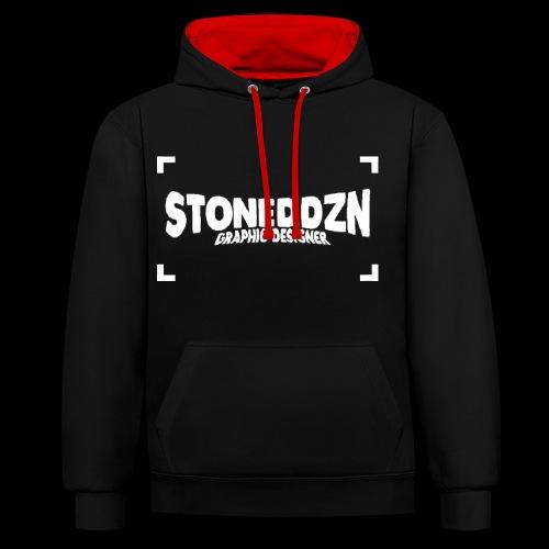 Da ist das YouTube Logo von StonedDzn - Kontrast-Hoodie