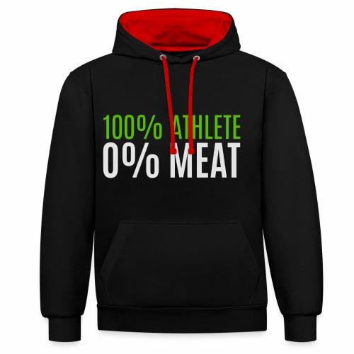 100% Athlete - Kontrast-Hoodie