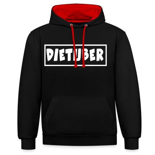 DieTuber Logo weiss - Kontrast-Hoodie
