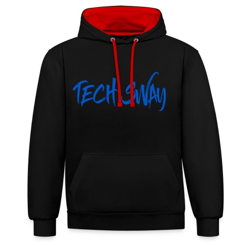 Tech Sway Blue - Contrast Colour Hoodie