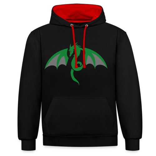 Red eyed green dragon - Contrast hoodie