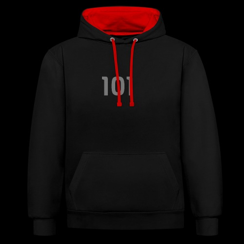 Motiv101 - Kontrast-Hoodie