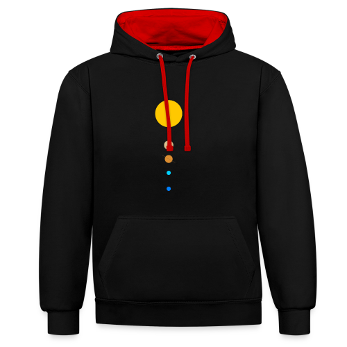 Solar System - Contrast Colour Hoodie