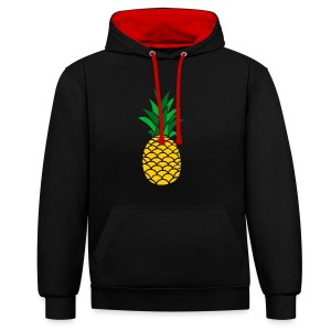 Colored Pineapple Clothing Collection - Contrast Colour Hoodie
