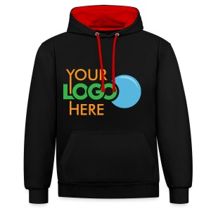 Your Logo Here - Contrast Colour Hoodie