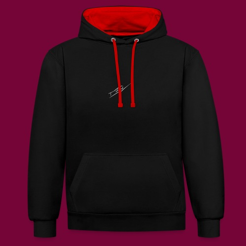 CEV SIGN LOGO - by CevGraphics - Kontrast-Hoodie