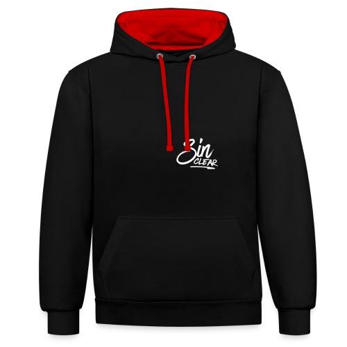 LogoWhite - Kontrast-Hoodie