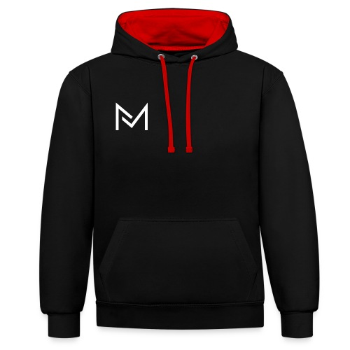 YouTube Logo For MarcelMedia - Contrast Colour Hoodie