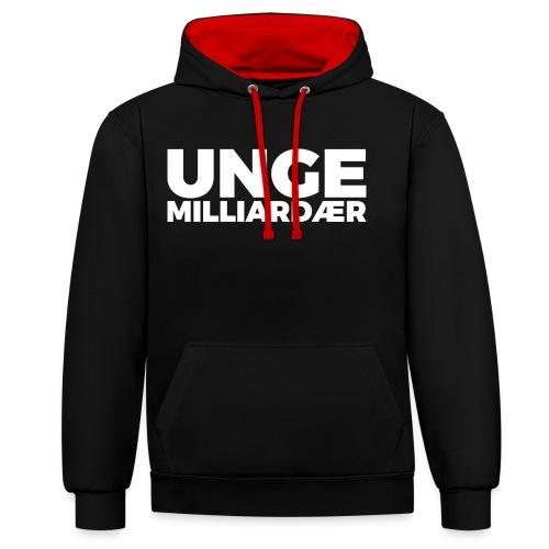 unge-mill-logo-hvit - Kontrast-hettegenser