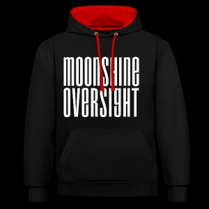 Moonshine Oversight blanc - Sweat-shirt contraste