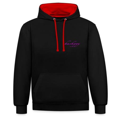 bright logo - Contrast Colour Hoodie