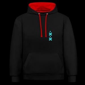 The only way - Contrast Colour Hoodie