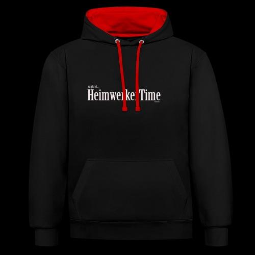 HeimwerkerTime - Kontrast-Hoodie