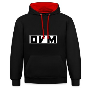 BLACK DVMTV SWEATER - Contrast Colour Hoodie