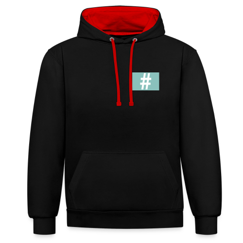 1956709845327 - Contrast hoodie