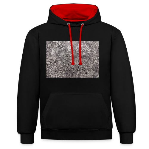 Skdoodle - Contrast Colour Hoodie