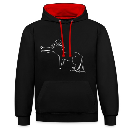 Lost dog + logo - Contrast Colour Hoodie