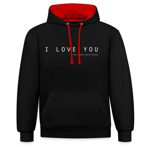 I Love You by The Nerved Corporation - Contrast Colour Hoodie