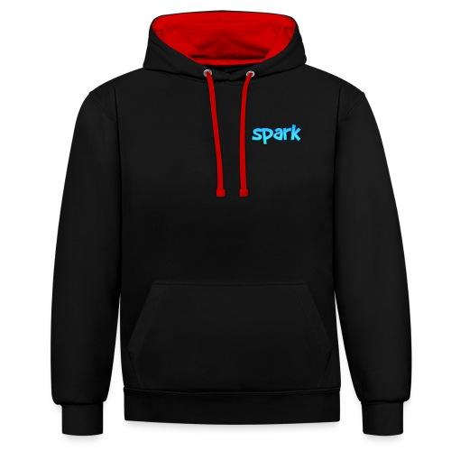 spark blue design - Contrast Colour Hoodie