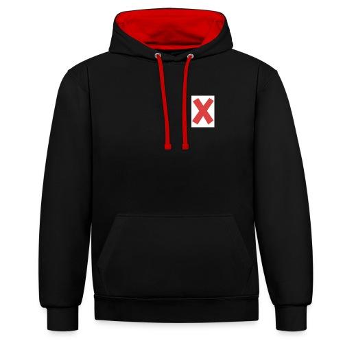 X - Felpa con cappuccio bicromatica