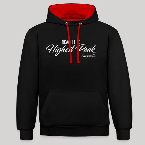 Highest peak - Kontrast-Hoodie