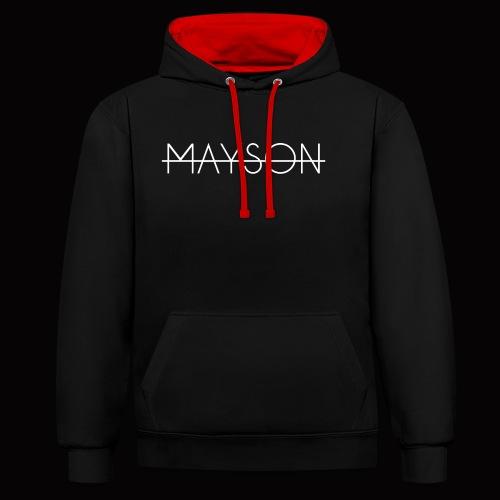 Mayson Schriftzug weiß - Kontrast-Hoodie
