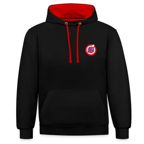 TEAM JG Logo top - Contrast Colour Hoodie