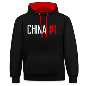 China #1 (White) - Contrast Colour Hoodie