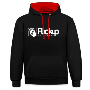 FuckUp Nights Bembel Edition White - Kontrast-Hoodie