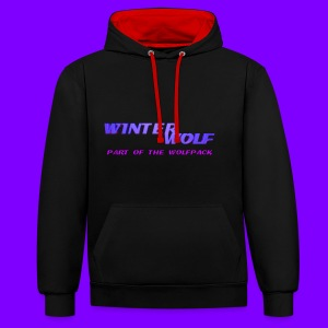 WINTERWOLF LOGO Part of The Wolfpack T-shirt - Contrast hoodie